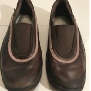Merrell 39/7.5 Slip On Elastic Brown Pink Shoes